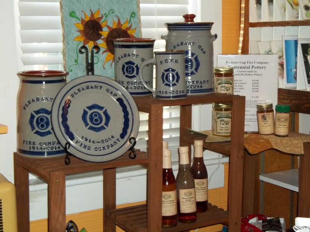 Pleasant Gap 100 Year Centennial Pottery Display